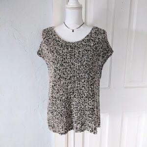 Eileen Fisher OpenKnit Funky Cute Sweater Size L